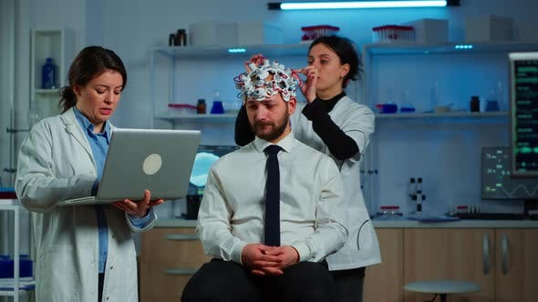 Medic in Neuroscience Working in Neurological Research Laboratory