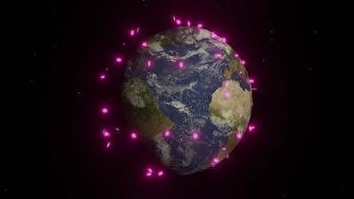 Covid 19 corona virus earth