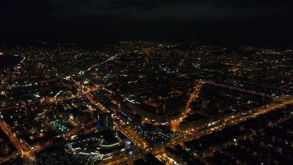 Thumbnail for Luftaufnahme von Stadt Nacht