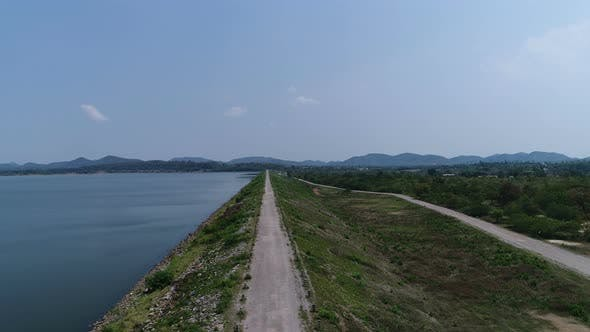 Thumbnail for Aerial View Lake And Road