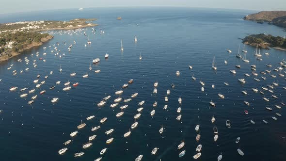 Thumbnail for Drone Flight Over Yachts in Blue Bay Near Cadaques