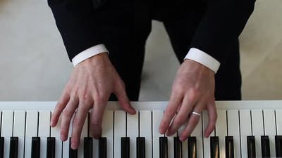 Piano Hands Pianist Playing Music