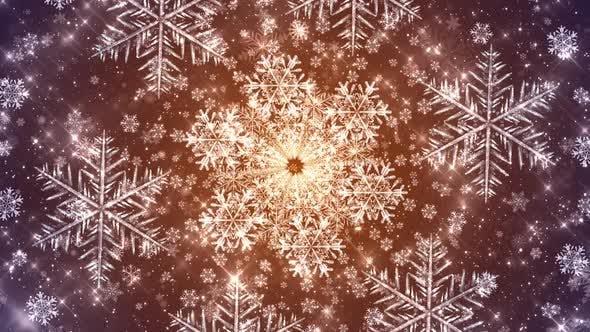 Thumbnail for Snowflakes Seamless Bg