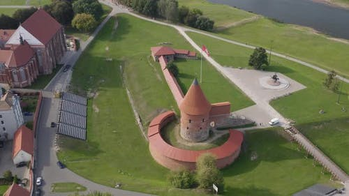 Red Castle Remains. Kaunas City Lithuania's Most Fortified City
