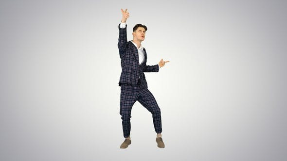 Thumbnail for Happy Successful Businessman Dancing In a Crazy Way