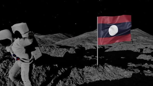Cover Image for Astronaut Planting Laos Flag on the Moon