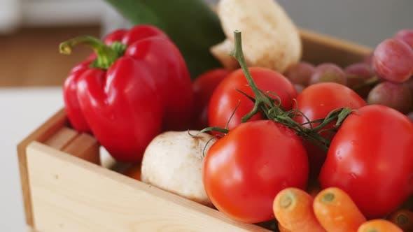Thumbnail for Wooden Box of Fresh Ripe Vegetables