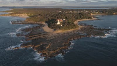 Norah Head lighthouse aerial view