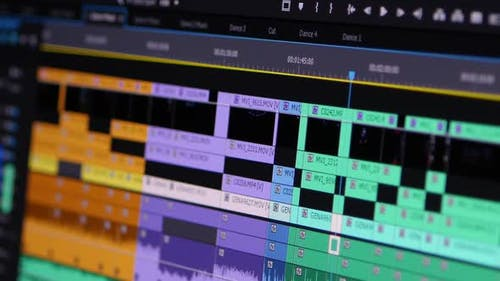 Video Editing Software Going Through The Timeline Frame By Frame Point Of View