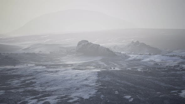 Thumbnail for Antarctic Mountains with Snow in Fog