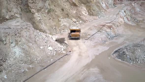 Thumbnail for Stone Mine Truck From Above