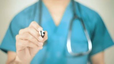 doctor in blue coat