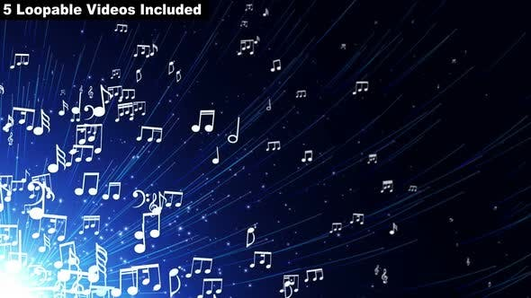 Thumbnail for Notes Musical Notes Background Package (5 Videos)