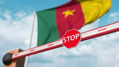 Open Boom Gate on the Flag of Cameroon