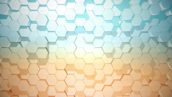 Thumbnail for Moving Hexagons in Blue and Orange Color