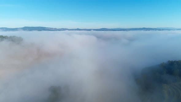 Flying Over the Sea of Clouds