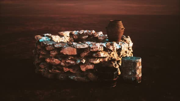 Thumbnail for Old Stone Water Well in the Desert