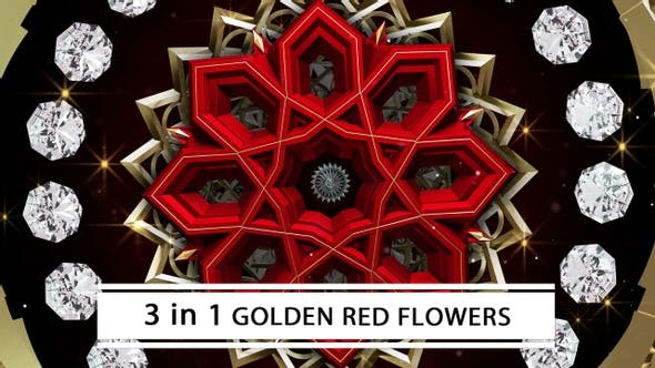 Golden Red Flowers