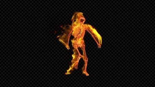Fiery Skeleton Happy Dance