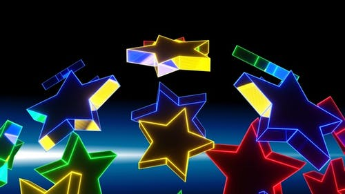 Rotation Of The Stars Is Multicolored HD ProRes