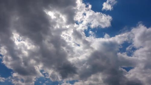 Softly Grey Clouds And Blue Sunny Sky