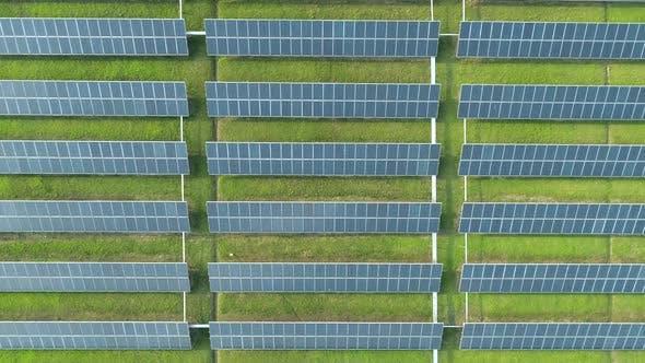 Thumbnail for Aerial View of Solar Energy Panels Solar Panels Solar Power Plants