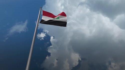 Irak-Flagge wehend 2K