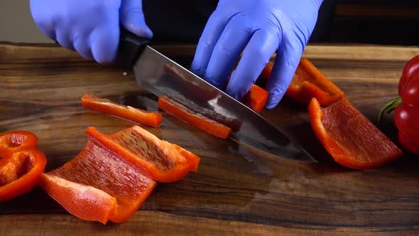 Thumbnail for The Cook Cuts Sweet Pepper