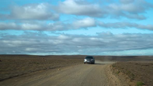 Cover Image for Car Driving on the Road To Iceland