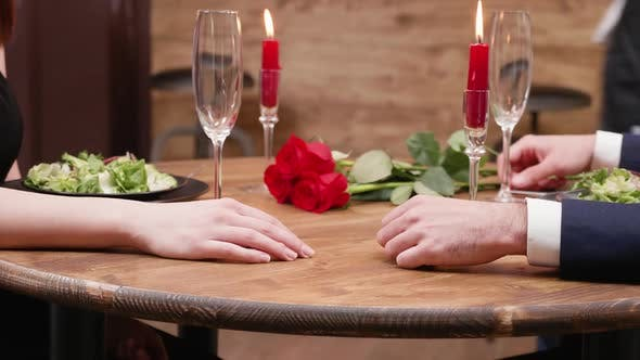 Thumbnail for Detailed Shot of a Man and Womans Hands Touching and Holding
