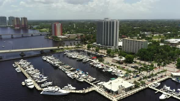 Aerial Video Fort Myers Yacht Basin Florida
