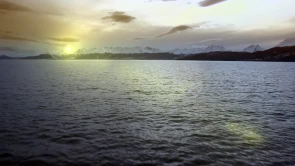 Thumbnail for Beautiful Sunset on the Ocean. The Beagle Channel in Tierra del Fuego (Argentina).