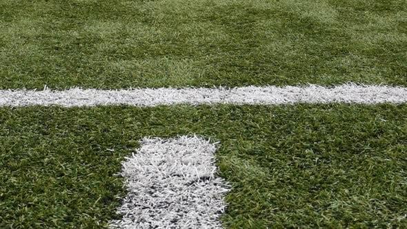 Cover Image for Weiße Markierungen auf dem grünen Fußball