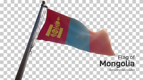 Thumbnail for Mongolia Flag on a Flagpole with Alpha-Channel