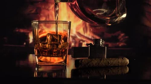 Pour Alcohol Into a Glass