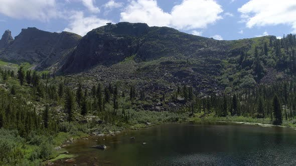 Thumbnail for Lake in Mountain under Blue Sky