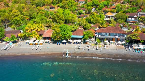 Thumbnail for Aerial View of Jemeluk Bay, Amed Beach, Bali, Indonesia