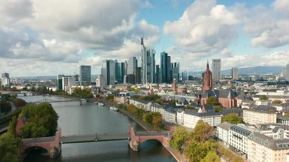 Skyline of Frankfurt A. Main, Germany