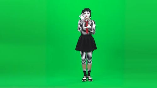 Mime Girl Is Drinking Something Disgusting