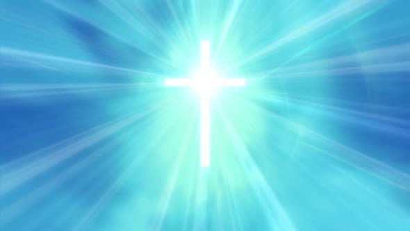 Thumbnail for Holy Cross with Heavenly Light - Blue