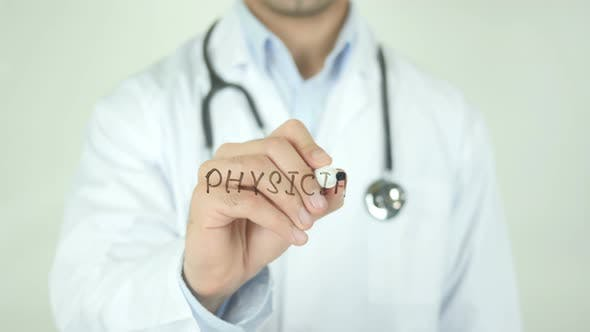 Thumbnail for Physician, Doctor Writing on Transparent Screen