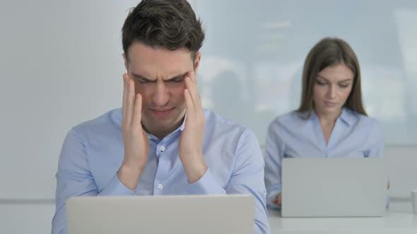 Thumbnail for Headache, Upset Businessman in Stress at Work