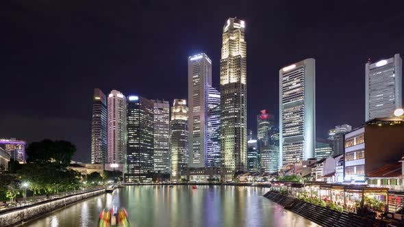 Thumbnail for Time Lapse of the amazing Singapore skyline seen from along the Singapore River