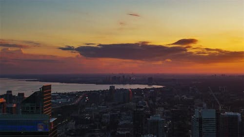 Toronto, Canada, Timelapse  - The west of Toronto from day to night