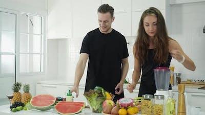 Person in kitchen