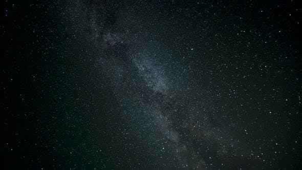 Thumbnail for Timelapse of Moving Stars and The Milky Way in Night Sky