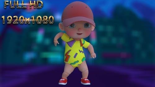 Cartoon Baby Dance V32 - 60 Fps