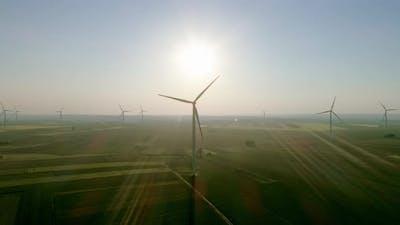Wind turbines producing alternative energy