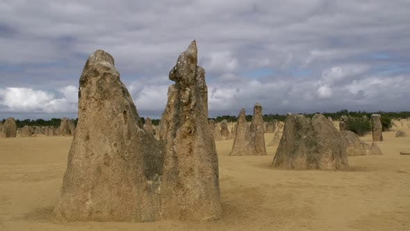 Time lapse and Close up limestone The Pinnacles