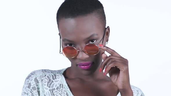 Thumbnail for Sensual African Woman Wearing Sunglasses